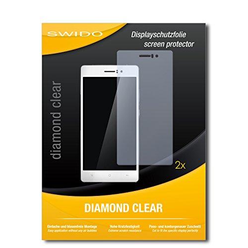 SWIDO 2 x Bildschirmschutzfolie Oppo R5 Schutzfolie Folie DiamondClear unsichtbar