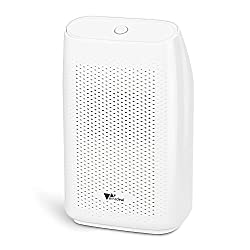 Amzdeal Dehumidifier Dehumidifier, Electric Dehumidifier Super Quiet Safe and efficient with 700mL water tank, lightweight air dryer against moisture and mold in the bedroom and bathroom