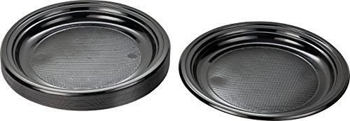 Kigima Einweg Teller Kunststoff schwarz, 30 STK, DM 22 cm