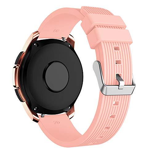 YBWZH Weiche Silikon-Uhrenarmband-Ersatzarmband für Samsung Galaxy Watch 42mm(Pink)