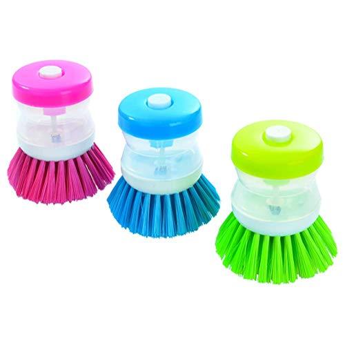 Flüssigen Topfreiniger aus Kunststoff Küchen Reinigungsbürste, kann automatisch flüssige Waschschalen Tellerbürsten Topfbürste waschen Reinigungsschwamm
