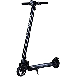CooL&Fun Trottinette électrique Scooter Patinete eléctrico Plegable 250W 20KM / H, Unisex Adulto (negro)