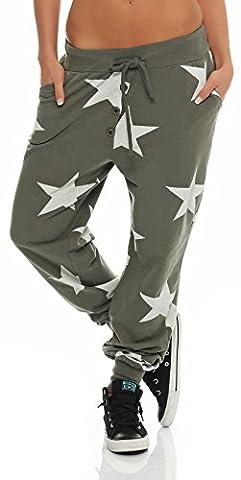 malito star Boyfriend Pantalon Sweatpants Fitness Harem Aladin Yoga 8025 Femme Taille Unique (olive)