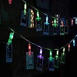 WSYYWD Mini LED Fotolaterne Bild Karte Clip Lichterketten Weihnachtsbeleuchtung Dekoration ohne Batterie austauschbar 3M 30LEDS