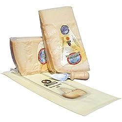 """Parmigiano Reggiano Dop """"extra"""" 24 mesi di COLLINA, 1 Kg + coltellino + sacchetto salvafreschezza"""