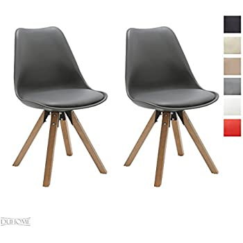 Stuhl Esszimmerstühle Küchenstühle !2 er Set! in GRAU Küchenstuhl ...