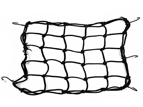 sungpunet 6Haken Motorrad halten Sie Fuel Tank Mesh Net Gepäck Helm Mesh Net Mesh Bungee mesh- schwarz (Helm Net)