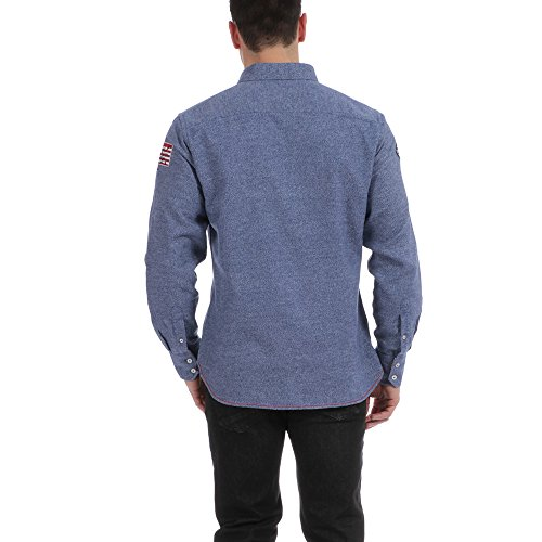 Ruckfield - Chemise manches longues bleue Rugby - Bleu Bleu