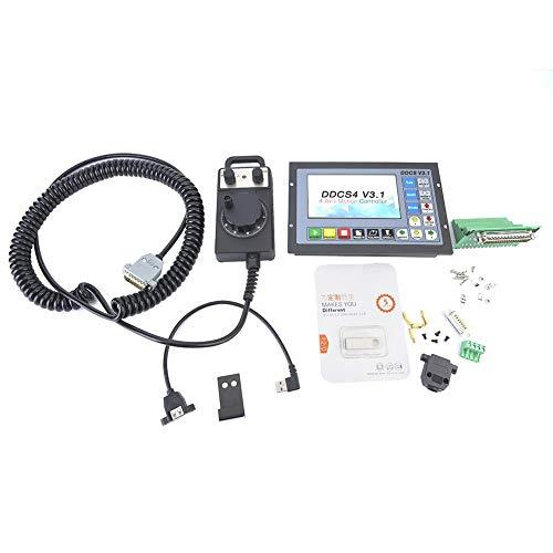CNC-Bewegungssteuerung, Lenkrad, 24-VDC-0,5-A-Eingang, mit USB-Flash-Laufwerk, 5-Zoll-TFT-Display, Steuerung unterstützt nur NPN-begrenzte Schalter