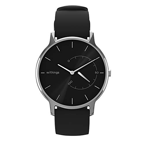 Withings Move Timeless Chic Silicone Black Schwarz, 36mm -