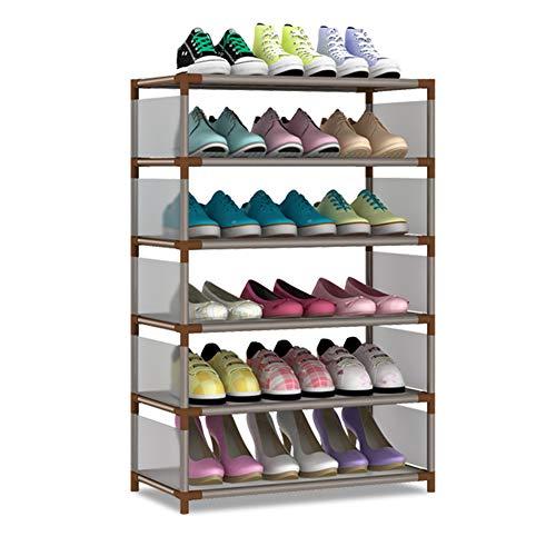 Six-Layer rack de chaussure peut être nettoyée et simple compartiment chaussure rack chaussure rack Economy maison salle de séjour rack