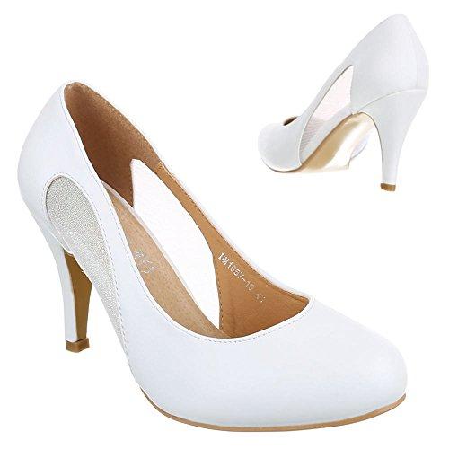 Ital-Design , Escarpins femme Blanc - Blanc