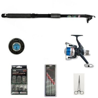 Telescopic Carbon Coarse Fishing Rod and Reel with Accesory kit. by Jackal Outdoors