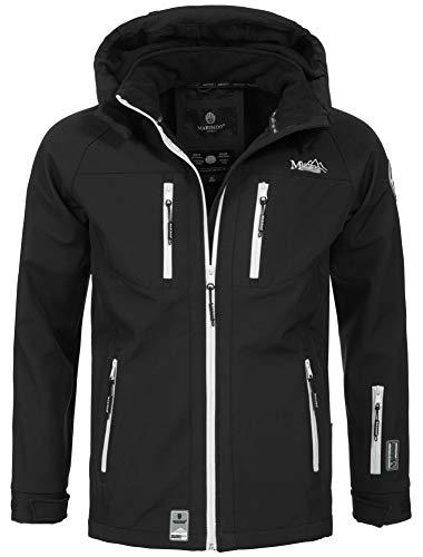 Marikoo Herren Softshell Funktions Outdoor Ski Regen Winter Jacke Sport B630 [B630-Noa-Sch