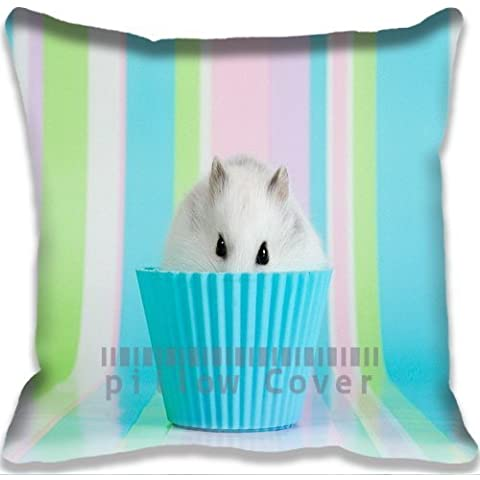 animals Cute Hamster In Bowl Pillowcase/Copricuscini e