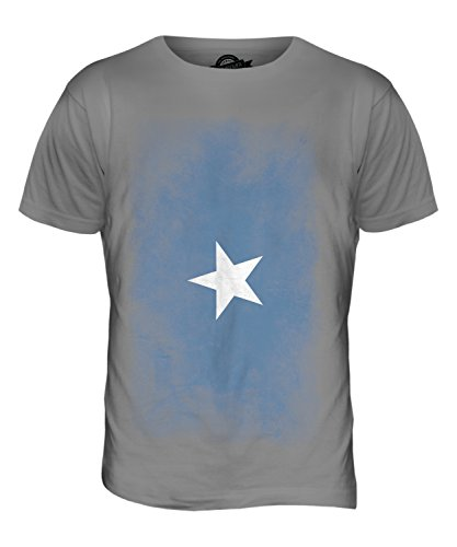CandyMix Somalia Verblichen Flagge Herren T Shirt Hellgrau