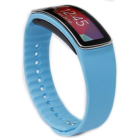 Greatfine Correa de muneca para Galaxy Gear fit R350 SmartWatch accesorios de munequera para reemplazo de bandas de reloj (Light