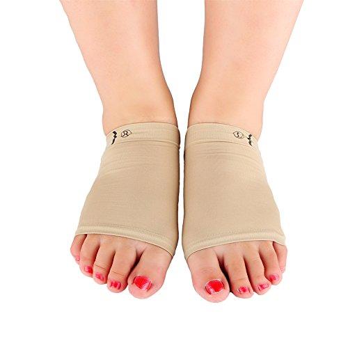 Yosoo 1 Paar Gel Bogen Kissen Hülle Gel Bogen Pads Fuß Gegenstütze mit Gel-Keil für Plattfüße/gefallenen Bögen/Sport wunde Füße, Fußschmerzen lindern (Bogen-kissen)