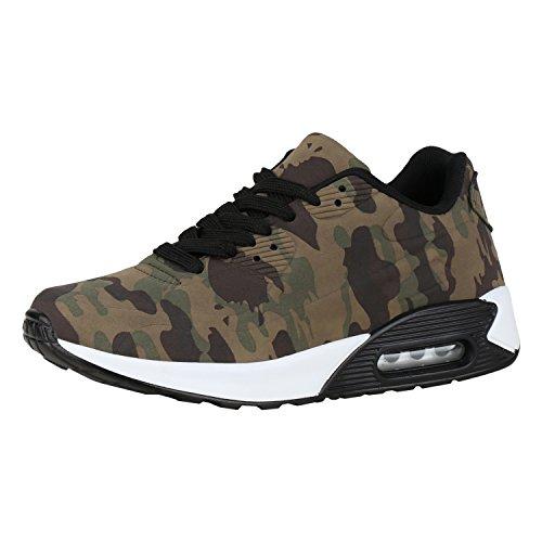 Damen Sportschuhe Camouflage Runners Sneakers Laufschuhe Schuhe Camouflage Grün 40 Jennika