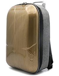 Mochila impermeable con exterior duro Lommer para almacenamiento de batería, cargador y accesorios de DJI Mavic Pro, dorado, 40x26x16cm