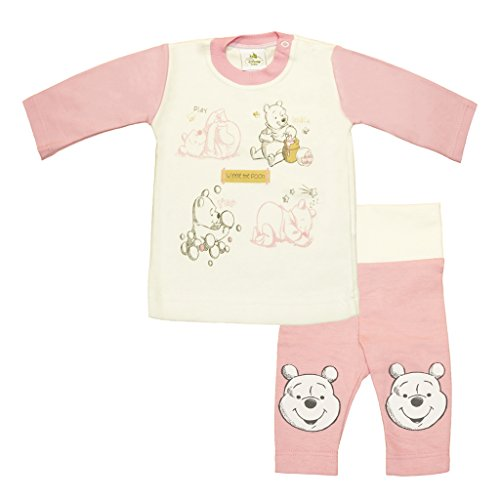 TEILIGES MÄDCHEN-Baby-Set in Grösse 56, 62, 68, 74, 80, Baby-Set für Neugeborene und Klein-Kinder, Baby Geschenkset in Rosa- und Weiss, Disney-Baby Winnie The Pooh Size 62 ()