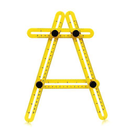 Angle-izer Vorlage Werkzeug,tronisky Multi Winkel Lineal Maßnahmen alle Winkel und Formen für Heimwerker, Builders, Handwerker, Schulbedarf Büro Test