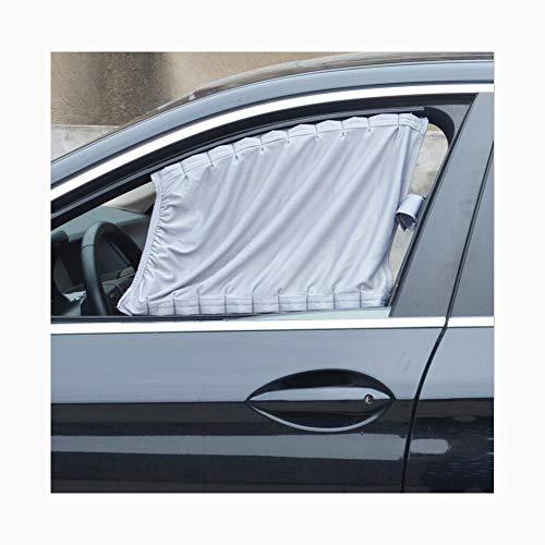 Sonnenschutz Vorhang, Schiene Typ Universal Schiebe Aluminium Fenster SashUv Datenschutz Für Sommer Zwei Pack,Gray ()