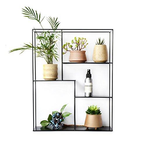 Preisvergleich Produktbild JNYZQ Rack Garden Storage Shelf Indoor oder Outdoor Dekoration Rack für Wohnzimmer,  Garten in Schwarz 49x11x50CM