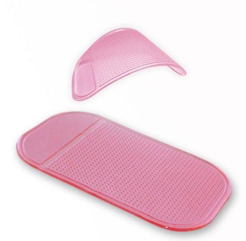 Original smartec24® Antirutschmatte rosa Anti Rutsch Matte Haftmatte Antirutschpad für Kleinteile Telefone etc. ideal für fast alle Oberflächen KFZ Armaturen