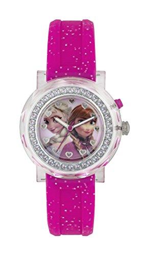Frozen Mdchen Analog Quarz Uhr mit Gummi Armband FZN3565ALT