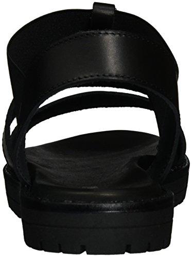 Pollini Damen Rugia Slingback Sandalen Schwarz (Black)