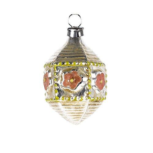 MAROLIN Miniature Glass Ornament Hexagon, rosé