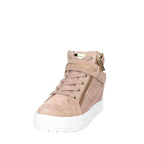 Fornarina Meti, Sneaker Basse Donna Beige