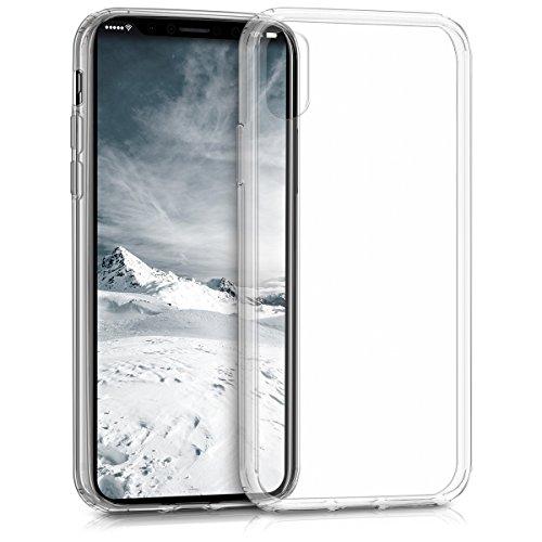 kalibri-Crystal-Case-Hlle-Sunny-fr-Apple-iPhone-X-transparente-Kunststoff-Schutzhlle-mit-TPU-Silikon-Rahmen-in-Transparent
