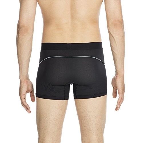 HOM Performance Air Active Long Boxer Brief - Black Black