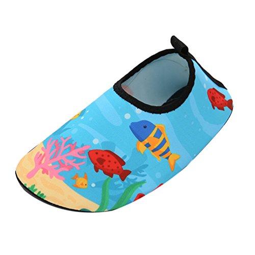 Yuanu Unisex Kinder Schnelltrocknend Aquaschuhe Cute Breathable Barfußschuhe Strand Schwimmen Wasserschuhe 18519 28