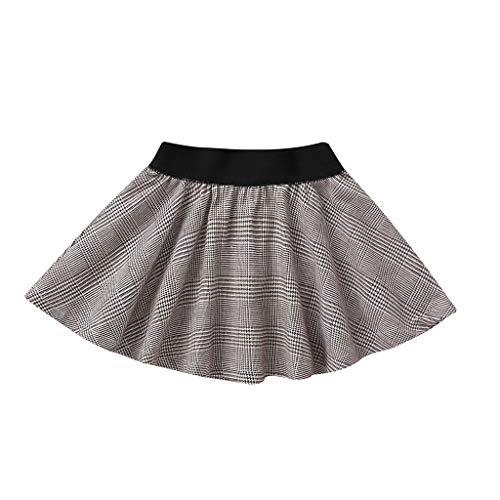 squarex  Mädchen-Karierter Rüschen-Rock-Baby-Minirock-Kinderprinzessin Dress Infant Petticoat Clothes Plaid-Rüschen-Tanz-Rock-beiläufiger Rock Plaid Overlay