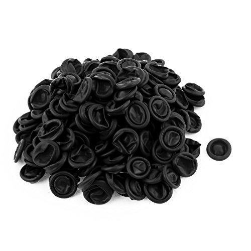 sourcingmap 200pcs Dedales Industria antiestática conductora desechables de látex de caucho negro