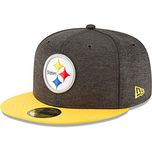 New Era NFL Pittsburgh Steelers Authentic 2018 Sideline 59FIFTY Home Cap, Größe :7 5/8