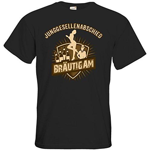 getshirts - RAHMENLOS® Geschenke - T-Shirt - JGA - Braeutigam vintage Look Black