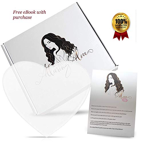 Premium Quality Long-Lasting Silicone Chest Wrinkle Pad   Decollete Area Treatment to Prevent and Reduce Wrinkles & Plump Skin   Protective Storage Box   Medical Grade, Transparent and Heart Shaped
