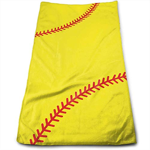 ERCGY Baseball Stitches Microfiber Clean Towels Face Towels Fast Drying Hand Hair Towels for Bath, Spa, Gym -12