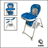 G4RCE Foldable 3 in 1 Baby Toddler Child Kids Infant Highchair Feeding Recliner Adjustable Seat Chair in Pink & Blue (Blue)