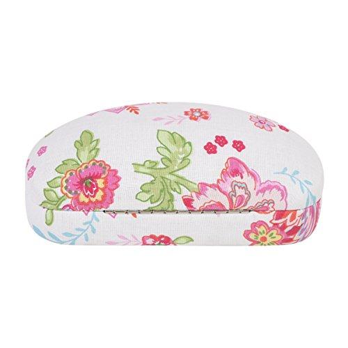 Revêtement tissu neoviva Cadres Lunettes de soleil étui pour moyen et grand, Tissu, Polka Dot Pink, 17(L)x9(W)x6(H)cm Illustrated Roses