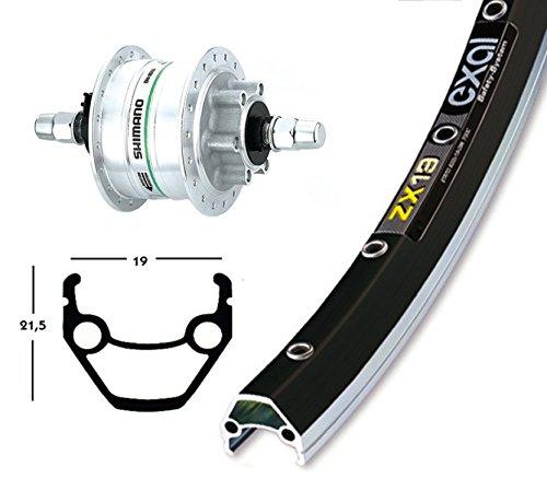 Ridewill Bike Vorderrad 28x 1.75Nabe Shimano Nabendynamo DH3D3036F schwarz/ARG Disc 6loch (Rollen Dynamo)/Front Wheel 28x 1.75Dynamo Hub dh3d30,36h Black/Silver 6Holes Disc (Dynamo Wheels) (Hole Hub-28)