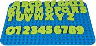 Briks - Zahlen- & Buchstaben-Bausteine zum Lernen - 100 % kompatibel mit Allen führenden Marken - ab 3 Jahren - Flexible Ziffern & Buchstaben aus Silikon - 36 Bausteine ()