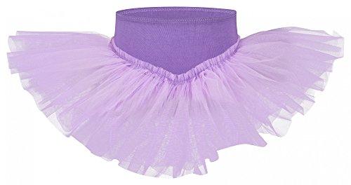 """tanzmuster Tutu Ballettrock """"Pia"""" für Kinder. Ein Ballettröckchen, das aus jedem Ballett Trikot sofort ein Tutu zaubert, in lavendel, Größe:92/98"""