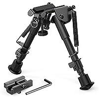 """Fly YUTING Bípode de Rifle de 6""""- 9"""" con Adaptador Picatinny de liberación rápida, bípode de Aluminio para Caza y Tiro"""