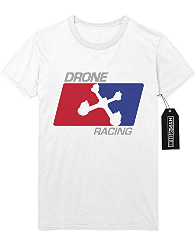 """T-Shirt Drones """"DRONE RACING NBA STYLE"""" H970041 Weiß"""