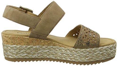 Gabor Shoes Fashion, Sandali con Zeppa Donna Marrone (walnut 18)